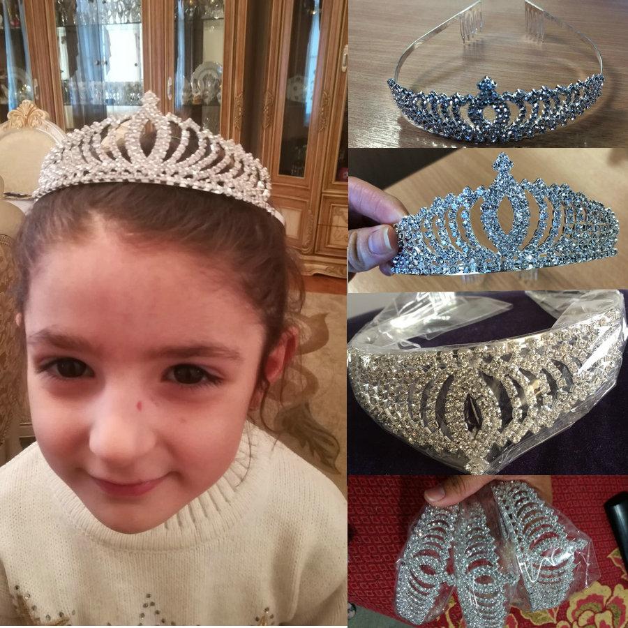 12d813419 Precioso cristal corona Tiara para los niños de la flor de las ...