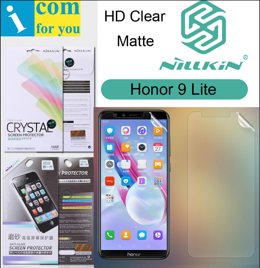 Nillkin Front + Back Matte HD Clear Screen Protective Film For Huawei Honor 9 Lite Soft Transparent Crystal 5.65 inch
