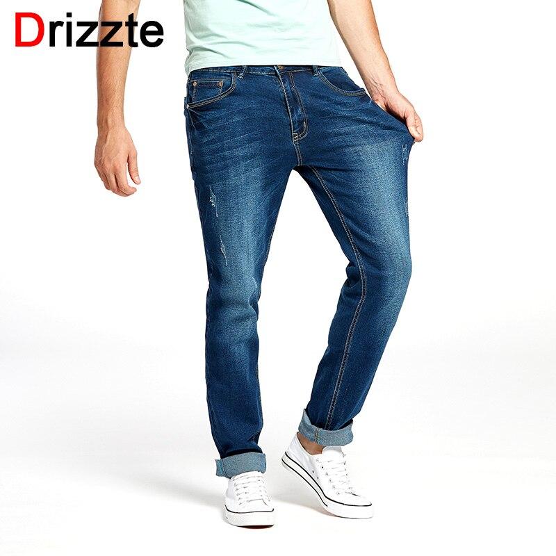 Drizzte Mens   Jeans   New Fashion Designer Plus Size 33 34 35 36 38 40 42 44 46 Men's Stretch Slim Denim   Jeans   Trousers Pants