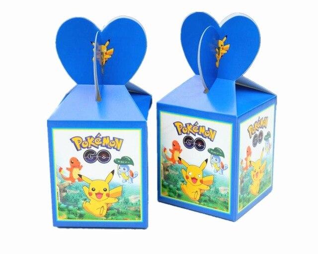 6pcs Lot Pokemon Go Print Candy Box Theme Party Supplies Loading Gift Loot Bag Paper