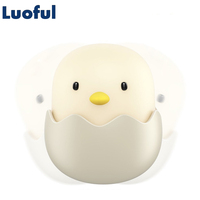 Rechargeable LED Night Light Egg Shell Chick Shape Touch Switch USB Power Smart Bedroom Luminaria Baby