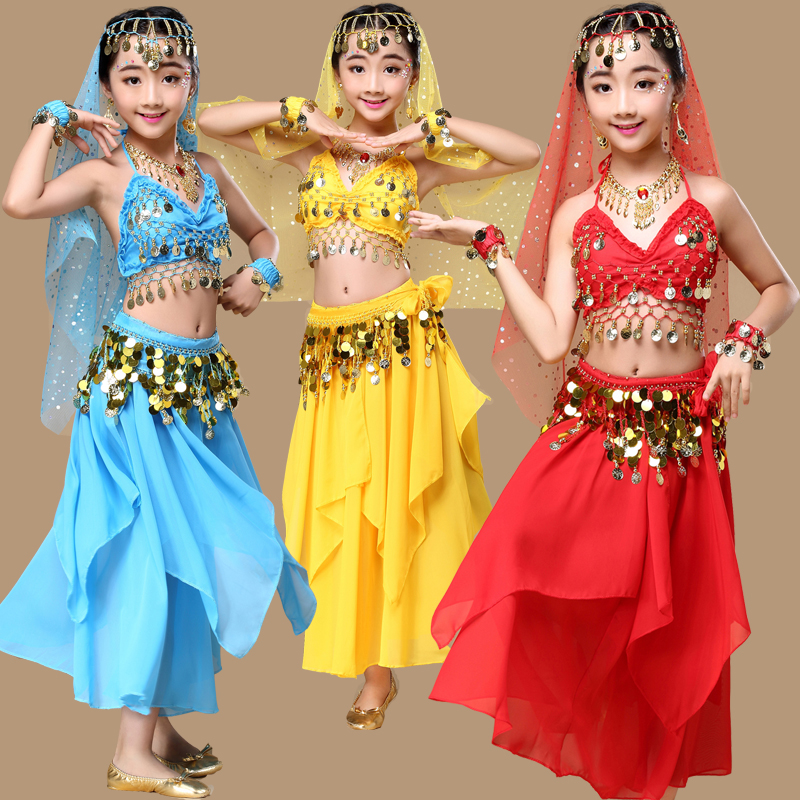 be7c2fe0f Buy Online 5 colors 4-5-6pcs girls Belly Dance Costume kids Indian ...