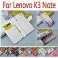 Caso de cuero para Lenovo K3 nota K 3 nota / A7000 A 7000 flip caso de la cubierta con LenovoK3Note LenovoA7000 teléfono cubre casos