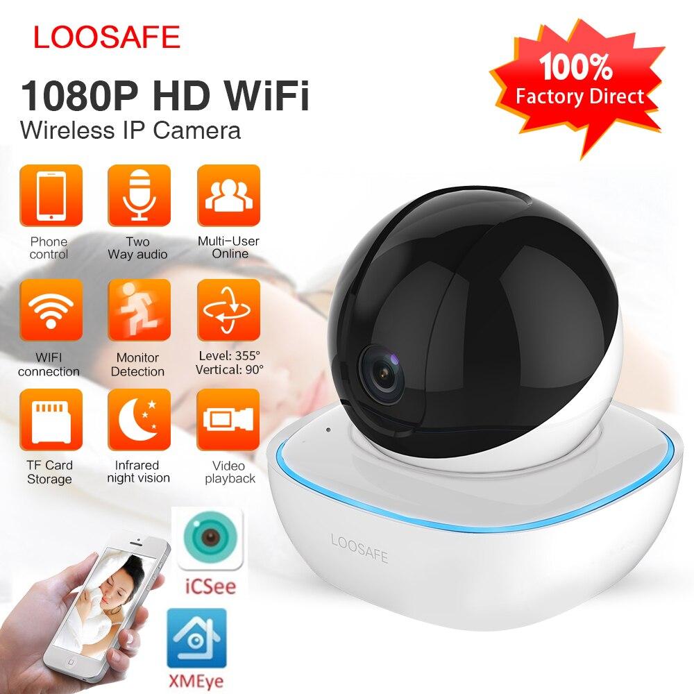 LOOSAFE HD Sicherheit IP Kamera Wi-Fi 1080 P Wireless Home Sicherheit Überwachung Alarm Nachtsicht P2P CCTV Kamera Baby Monitor