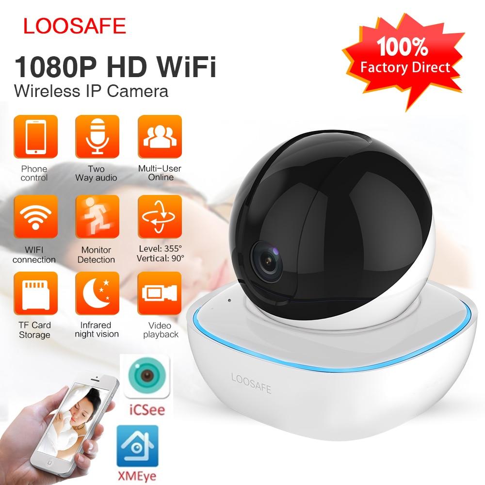 LOOSAFE wifi Security Wireless IP Camera 1080P Home Security 2 Way Audio Alarm IR Night Vision P2P Surveillance CCTV Wifi Camera