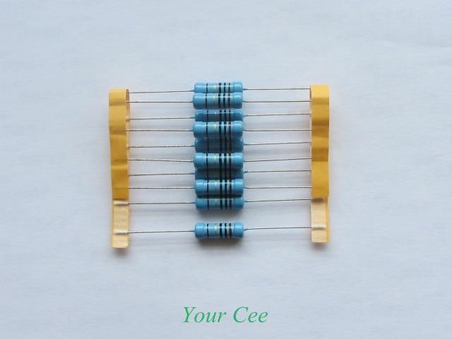 10pcs 100 Ohm 100R 1% Tolerance Precision Metal Film Resistors 3W, 3 Watts RoHS Lead Free