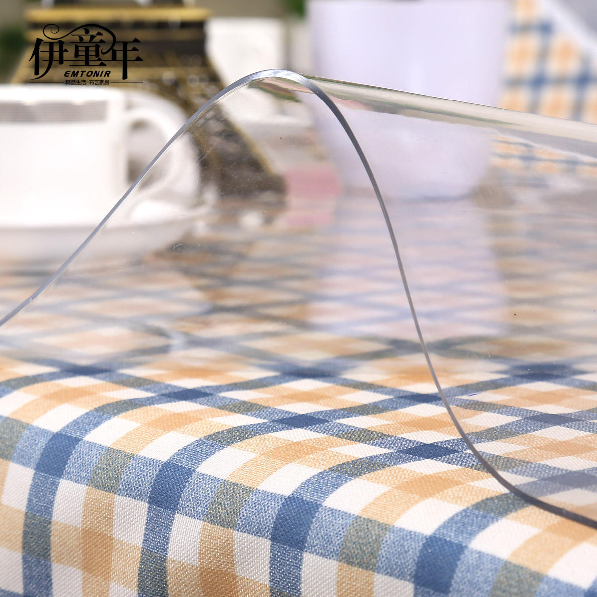 Home furnishing oil proof disposable transparent tablecloth tablecover PVC table cloth hotel soft glass mat manteles para toalha in Tablecloths from Home Garden