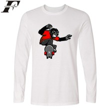LUCKYFRIDAYF Funny Gorilla Long Sleeve T font b shirt b font Spring Cool Cotton Long T