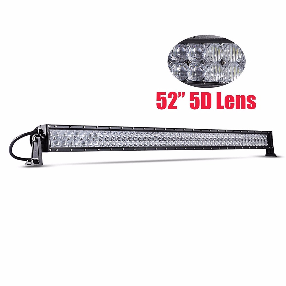 "22"" 32"" 42 "" 52 Inch New 5d Lens Led Light Bar 120w 180w 240w 300w 6000k Spot Flood Combo Beam Driving Light 5d Led Light Bar Agreeable Sweetness"