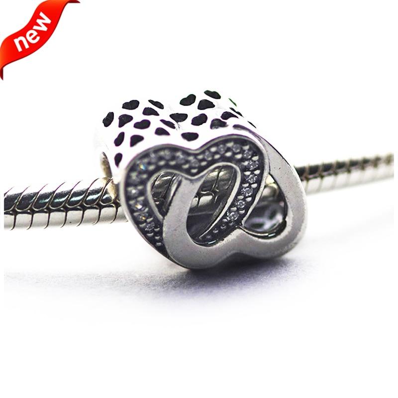 Für Pandora Charms Armbänder Entwined Love Charms mit klaren - Edlen Schmuck - Foto 1