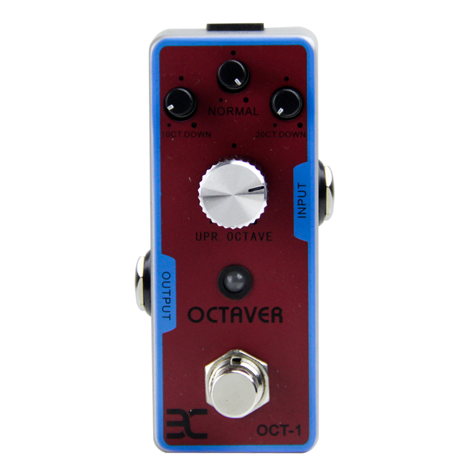 NEW ENO EX Tender OCT-1 Octaver Guitar Effect Pedal/Sturdy Metal Construction True Bypass/Guitar Accessories new effect pedal mooer solo distortion pedal full metal shell true bypass