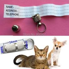 Безопасность питомца identitag кулон ID адрес баррель кошка собака трубка антипотеряшка