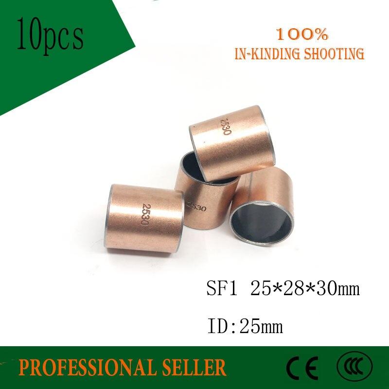 10pcs New SF-1 2530 Self Lubricating Composite Bearing Bushing Sleeve 28*25*30mm