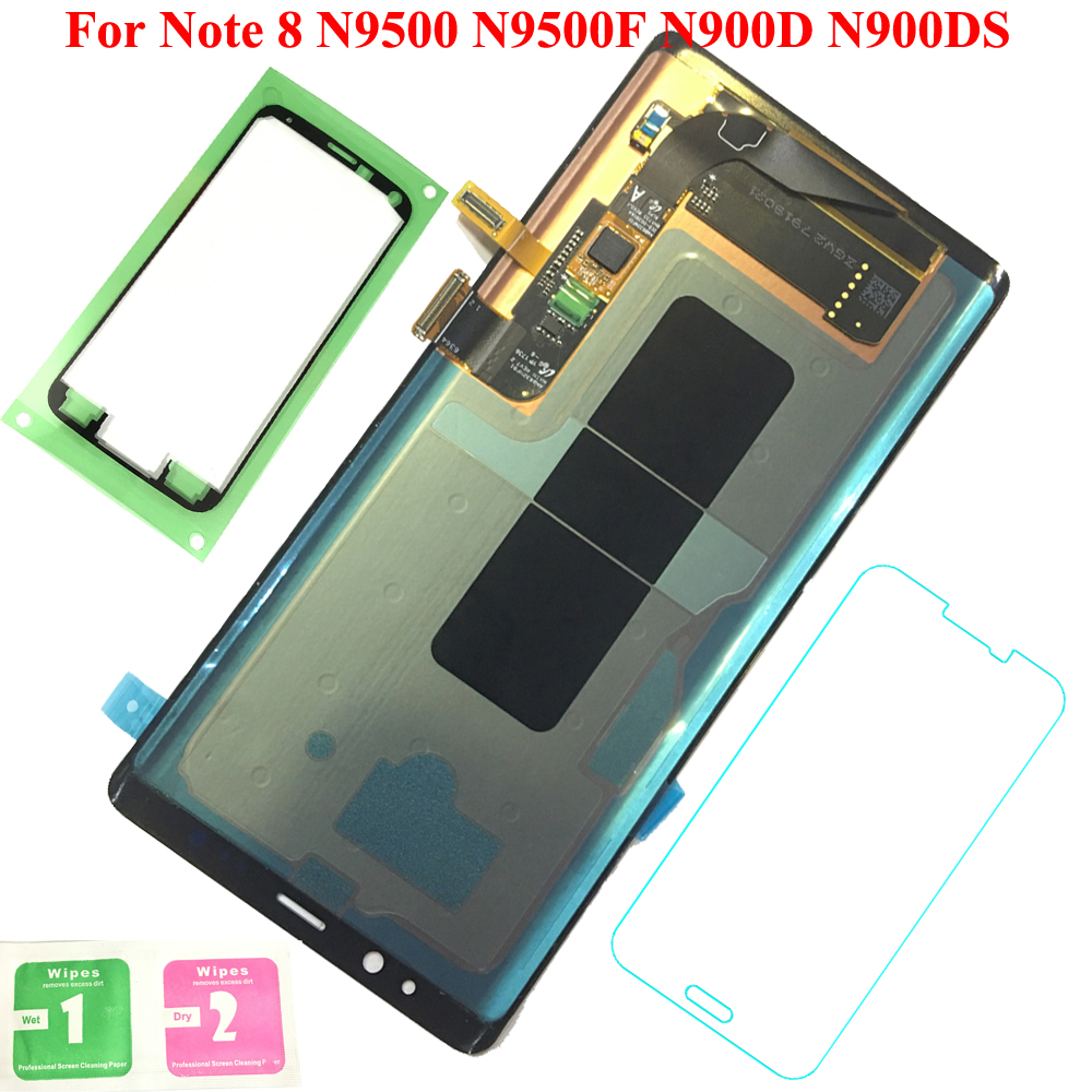 Display 100% Tested Working AMOLED LCD Display Touch Screen Assembly For Samsung Galaxy Note 8 N9500 N9500F N900D N900DS 6.3