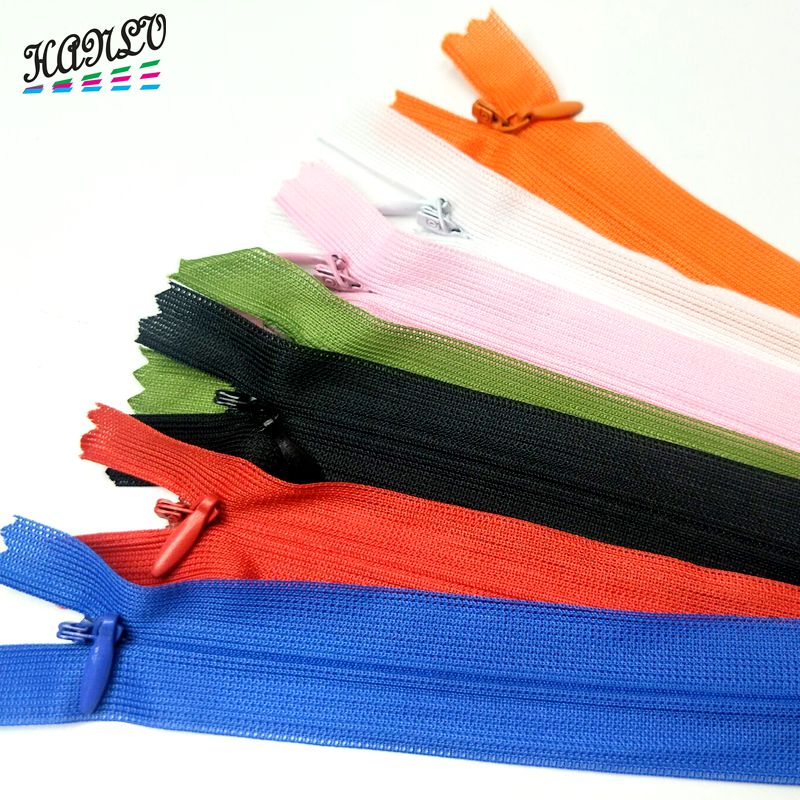 5pcs/7pcs  28CM Colorful Silk Edge 3 # End Closed Invisible Zippers Tailor Sewing Craft