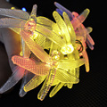 Led Solar Lighting Party Garden Decoration Solar Fairy Lights String Lights WaterProof 30 LED Strip Lights with 4 Colors