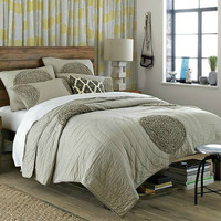Upscale Hotel Supplies Bedding Set Cotton Rice Embroidered Handmade Washing Quilt European Bed Cover Three Piece Set