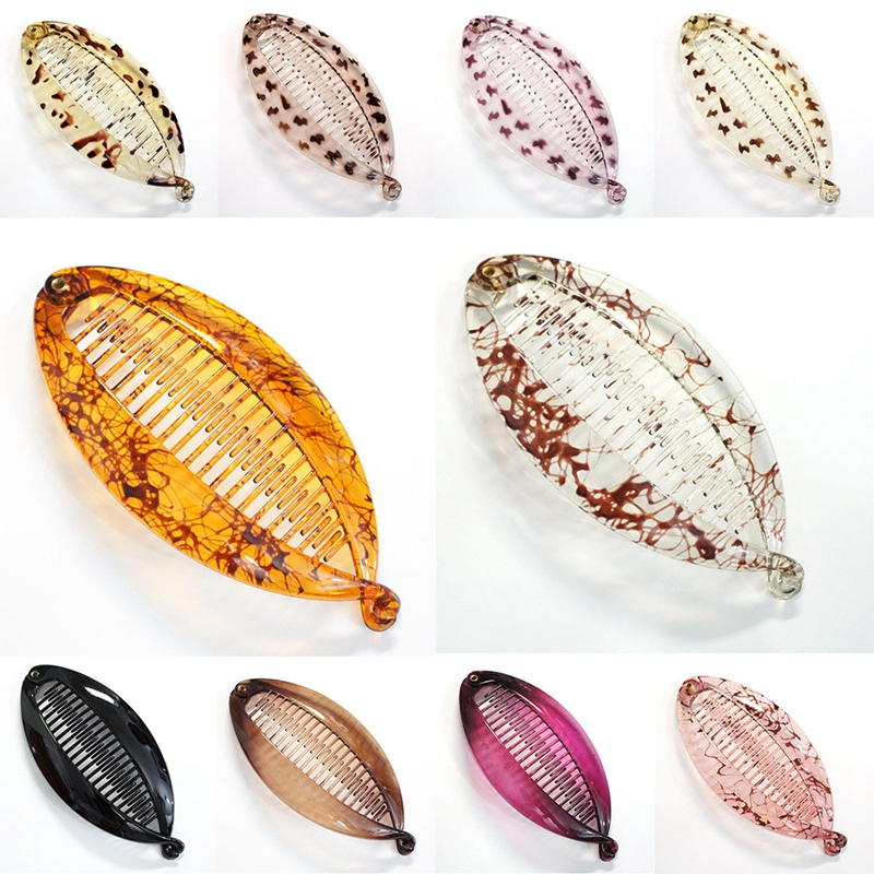 Fashion Women Banana Hair Comb Clip Lady Fish Folder Fishtail Clip hairpin for Women Hair Accessories Headwear 6 Color Wholesal