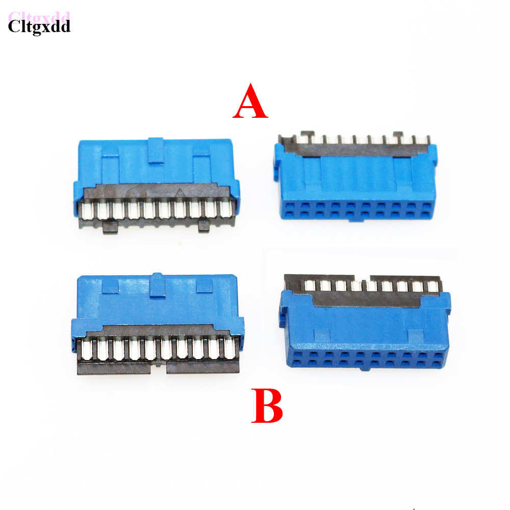 cltgxdd 2 type 30 50 100PCS solder 19P USB 3.0 female male connector 180 motherboard chassis front seat expansion connector usb 3 0 19p 20p 19 pin 20 pin usb3 0 male socket 90 degree motherboard chassis front seat expansion connector and bracket cable