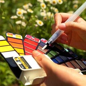 Image 4 - Aquarelle peinture étudiant enfants peinture solide couleur de leau Pigment ensemble en boîte Portable Art fournitures