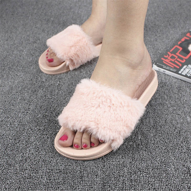 Fur sandals Gladiator Sandals 2017 Casual Slippers Platform Shoes Woman Slip On Flip Flops Flat Sandals Summer Shoes phyanic 2017 gladiator sandals gold silver shoes woman summer platform wedges glitters creepers casual women shoes phy3323
