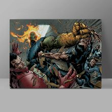 Namor VS Super Skrull Canvas Superhero Painting Hero Wall Pictures Corridor High Quality Waterproof Cotton HD Poster