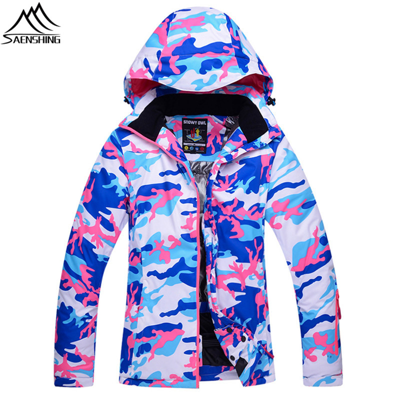Saenshing Camouflage Winter snowboard Ski Jacket Women breathable Warm Waterproof snow jacket outdoor skiing coat ski clothing hot sale women ladies snowboard jacket waterproof breathable ski jacket female winter snow coat sport motorcycle anorak clothes