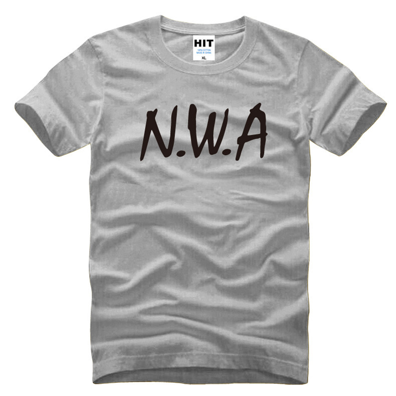NWA N.W.A. Street Rap Hip Hop Letter Printed Mens Men T Shirt Tshirt Fashion 2016 Cotton T-shirt Tee Camisetas Hombre