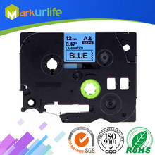 1 stks/partij 12mm * 8 m Tze 531 Tze531 Zwart op Blauw Gelamineerd Tape Compatibel P touch 12mm tze-531 Label Tape Cartridge tz531 tze-531(China)