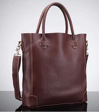 Vintage Genuine Leather Casual Women Tote Handbag Big Size, Simple design European American Fashion, 2016 new Brown