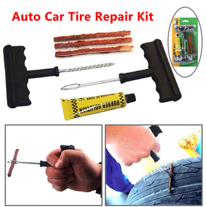 6pcs/set Professional Auto Car Tire Repair Kit Car Bicycle Truck Tubeless Tire Tyre Puncture Plug Repair Tool Car Accessories