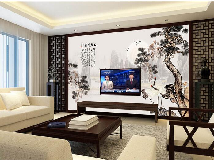 3d wallpaper custom mural non-woven 3d room wallpaper Chinese ink and wash crane fly painting photo 3d wall mural wall paper 3d wallpaper custom mural non woven cartoon animals at 3 d mural children room wall stickers photo 3d wall mural wall paper