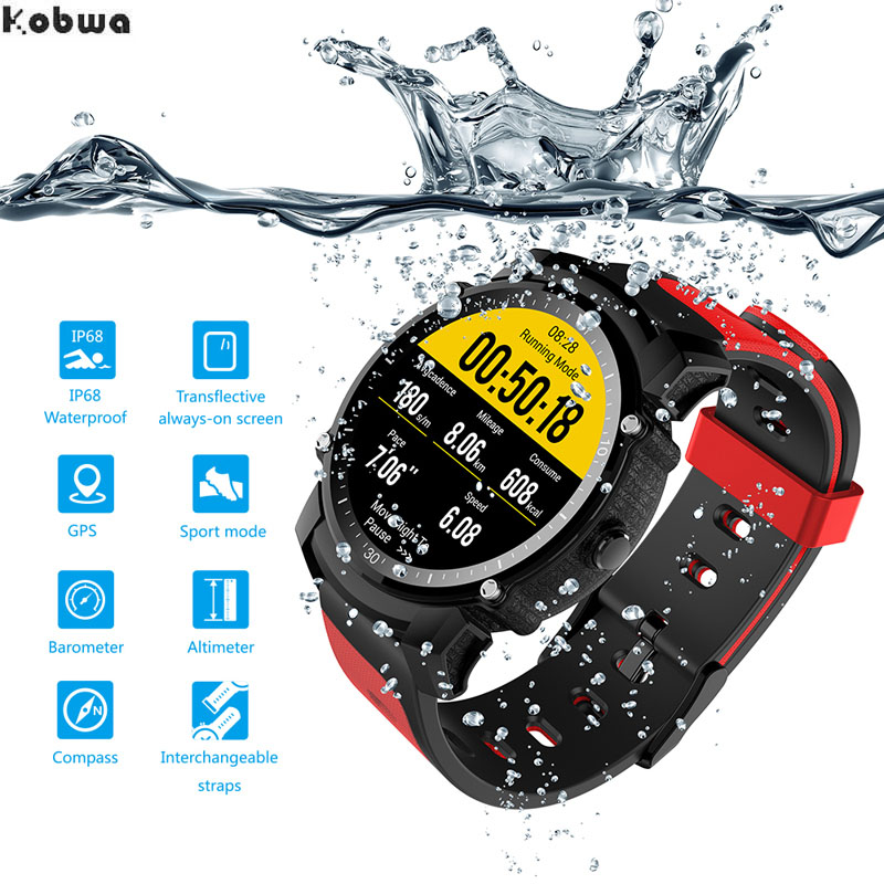 Original FS08 GPS Bluetooth Smart Sport Fitness Watch Smartwatch Fitness tracker IP68 Waterproof Heart rate Compass Android iOS цена