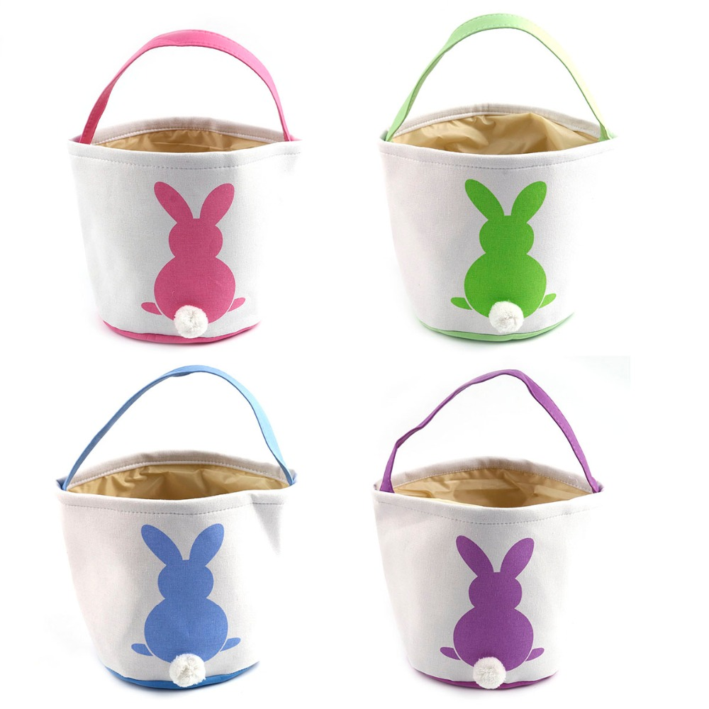 Wholesale 30pcs lot Easter Bags 18 styles Easter Bunny Bag Rabbit Basket Bag Tote Easter Decorations
