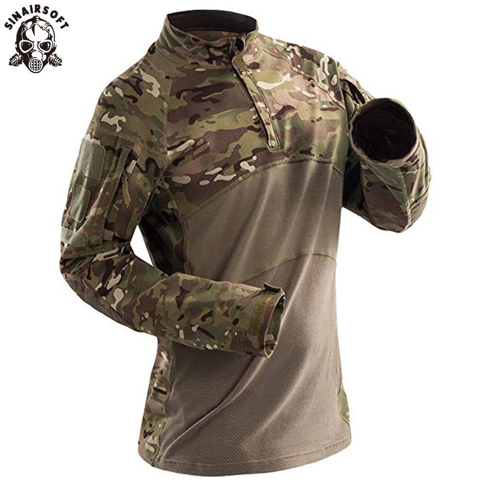 Men/'s Outdoor Military Combat Shirt Cotton Army Assault Camo Slim Fit T Shirt