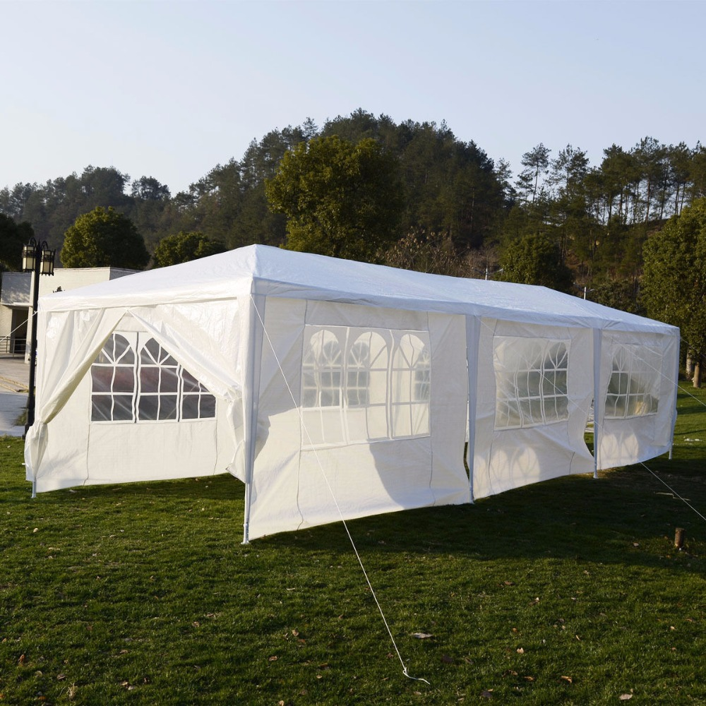 10'x30'Canopy Party Outdoor Wedding Tent Heavy duty Gazebo Pavilion Cater Events AP2013WH - 3