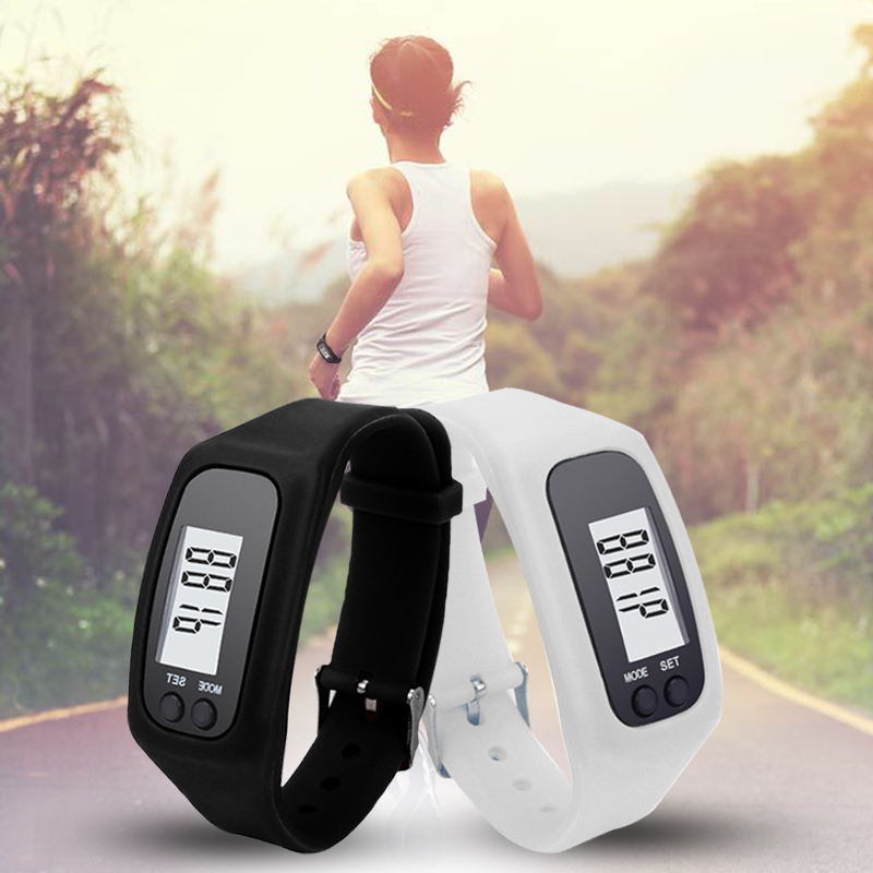 10 Colors Digital LCD Pedometer Run Step Walking Distance Calorie Counter Watch Casual LED Sports Watches Relogio