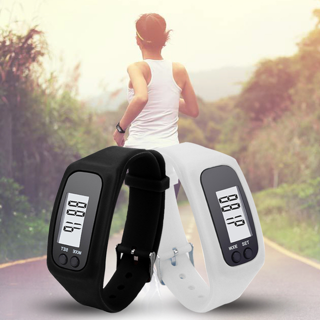 10 Colors Digital LCD Pedometer Run Step Walking Distance Calorie Counter Watch