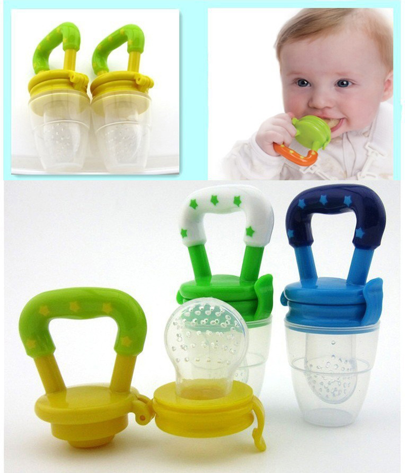 Baby Silicone Pacifier Kids Nipple Frukt Attache Sucette Chupetas Par - Baby mating - Bilde 1
