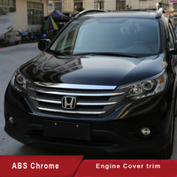 KOUVI ABS Chrome motorkap trim hood molding garneer voor 2012 13 14 15 16 Honda CRV Auto accessoires styling