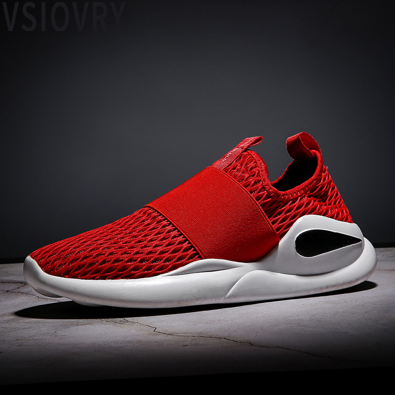 VSIOVRY Summer Men Sneakers Breathable Casual Shoes Lightweight Slip-On Male Loafers Driving shoes Super Soft Sole Men Krasovki