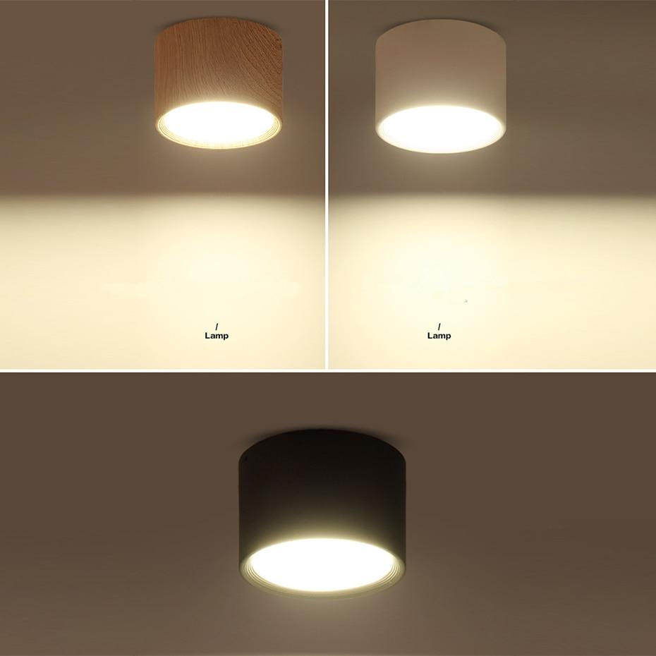 HTB1cfmVaIrrK1RjSspaq6AREXXaj [DBF]High Bright Epistar CREE Ceiling Lights 3W 5W 7W 10W 12W 15W Nordic Wood Surface Mounted Ceiling Spot Light for Bar Kitchen