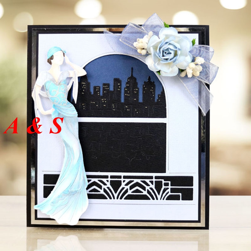 M56 Beautiful Woman Designs Metal Cutting Dies Stencils Scrapbooking/Photo Album DIY Embossing Decorative Accessories