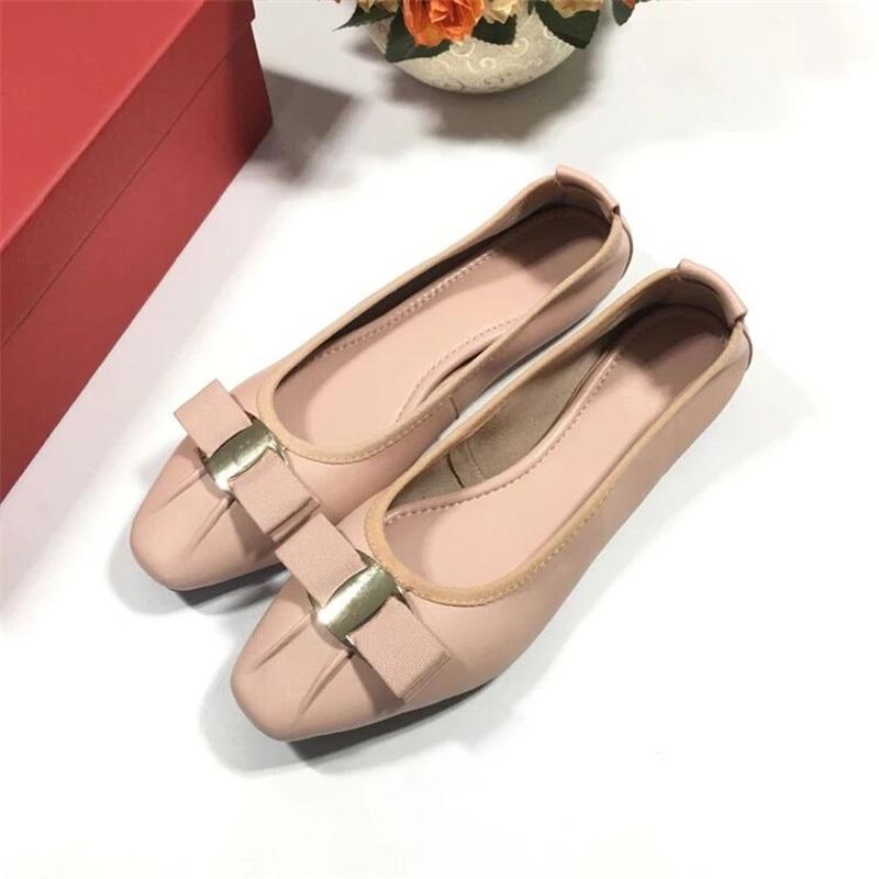 Stkehidba Women Genuine Leather Ballerina Casual Flats Female Slip On Luxury Soft Sole Boat Loafers Round Toe Ballet Shoes-에서여성용 플랫부터 신발 의  그룹 1