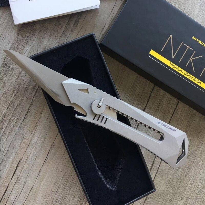 NITECORE NTK10 Titanium Multi-Functional Knife Outdoor Self-defense Retractable Bottle Opener EDC Tools