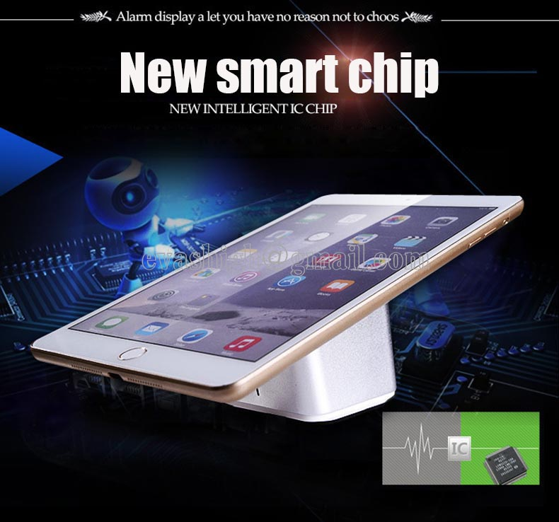 Wireless tablet anti theft security display stand Ipad alarm charging holder andriod apple samsung devices for retail shop wholesale price mobile phone anti theft alarm display stand with charging for exhibition