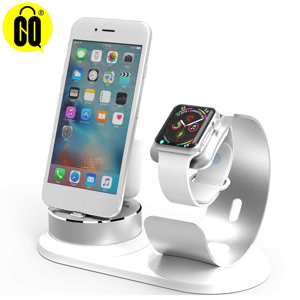 wholesale dealer 75a71 a43db Multifunction Charging Dock Station Cradle Stand Holder Charger For iPhone  X XR XS Max 8 7 6S 6 Plus SE For Apple Watch Charger