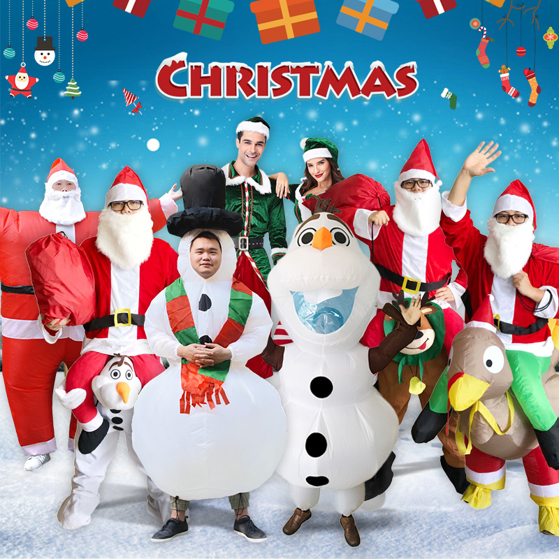 Christmas Collection Snowman Santa Claus Riding A Deer Couple Olaf Riding A Turkey Unisex For Adult Men Women
