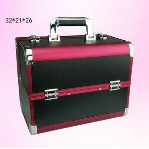 Image 3 - Sacchetto cosmetico portatile di valigie di trucco di bellezza professionale multi funzione cosmetologia del sopracciglio del tatuaggio insegnante manicure caso