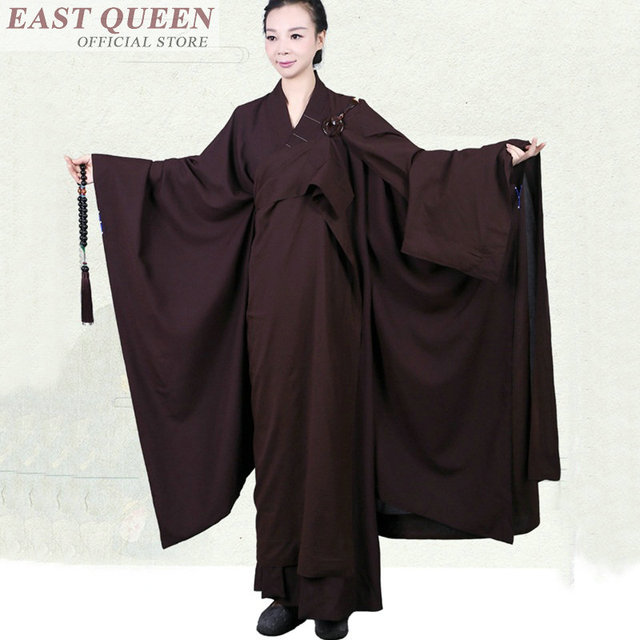 b610f699bcbb4 Buddhist monk clothing Traditional Chinese clothing for women online Chinese  store shao lin plus size buddhist monk FF649 A